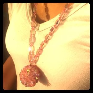 VINTAGE glass bead necklace.